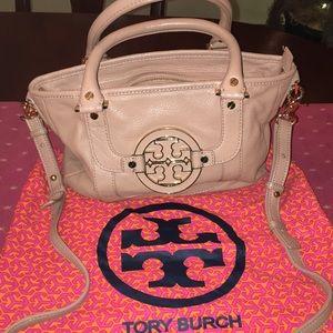 Tory Burch Tan Amanda Leather Crossbody bag Beige